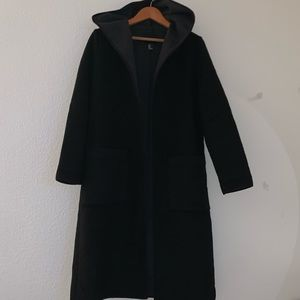 Faux Wool Long Coat